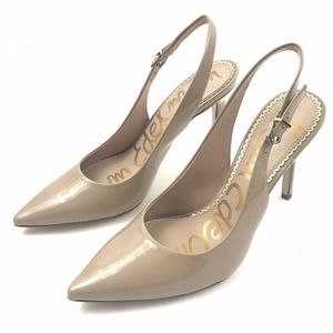 Sam Edelman Hasting Nude Patent Leather Pump 7.5